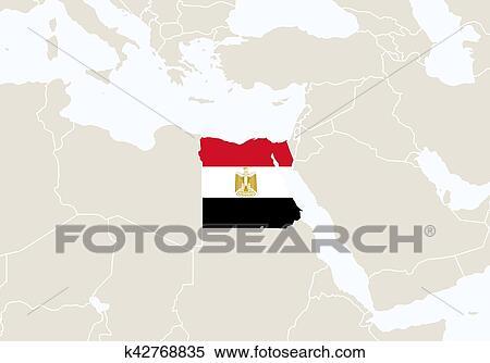 Cartina Africa Egitto.Africa Con Evidenziato Egitto Map Clipart K42768835 Fotosearch