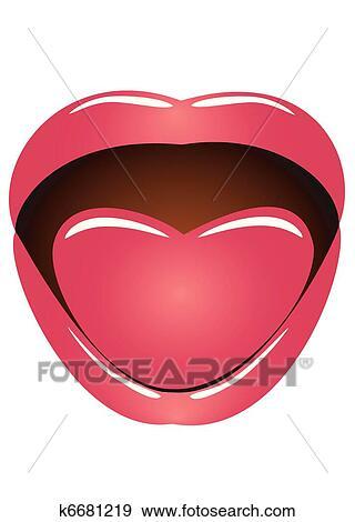 clipart boca e língua k6681219 busca de clip art ilustrações