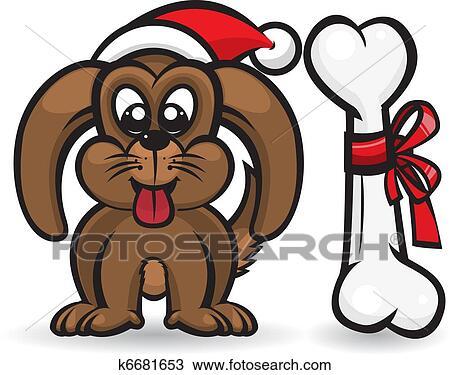 Osso Per Cani Disegno.Cane Con Natale Osso Disegno