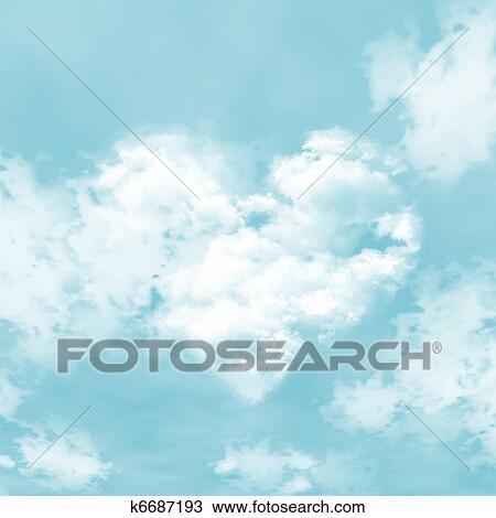 Cielo Azul Y Nubes Dibujo K6687193 Fotosearch
