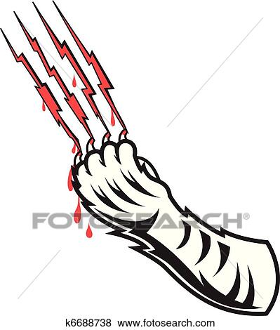 Claw mark Clip Art and Illustration. 722 claw mark clipart vector ...