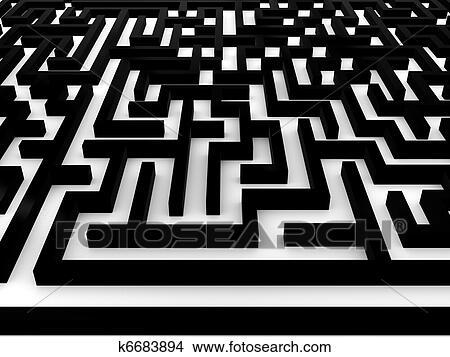 Dessins labyrinthe labyrinthe blanc arri re plan 3d k6683894 recherche de clip arts - Dessin labyrinthe ...