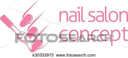 Clipart Of Nail Technician Concept K30333973