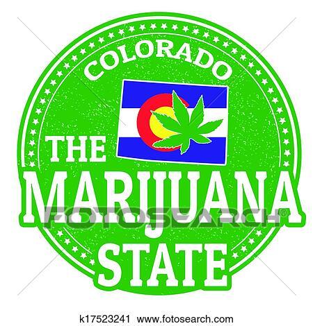 Clipart Of The Marijuana State Colorado Stamp K17523241