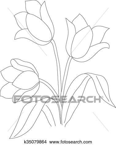 Disegni Tulipano Modello 02 K35079864 Cerca Illustrazioni