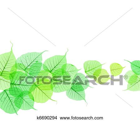 Abstract Background Of Fresh Green Leaves Stock Illustration