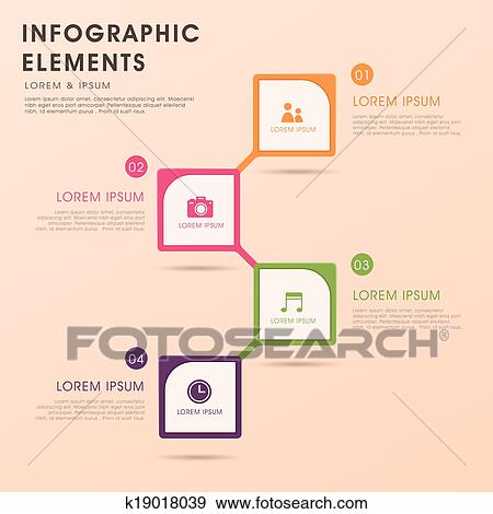 Clip art of abstract flow chart infographics k19018039 search modern vector abstract flow chart infographic elements ccuart Image collections