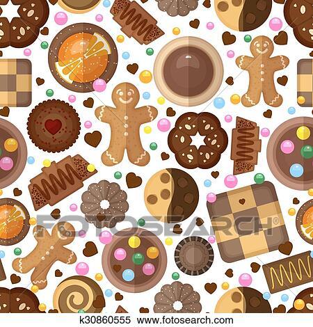 Clipart Biscotti Fondo Per Natale E Compleanno K30860555