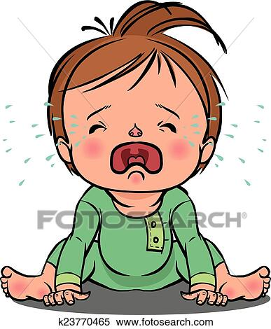 clipart of crying baby vector illustration k23770465 search clip rh fotosearch com crying baby cartoon clipart crying baby clipart free