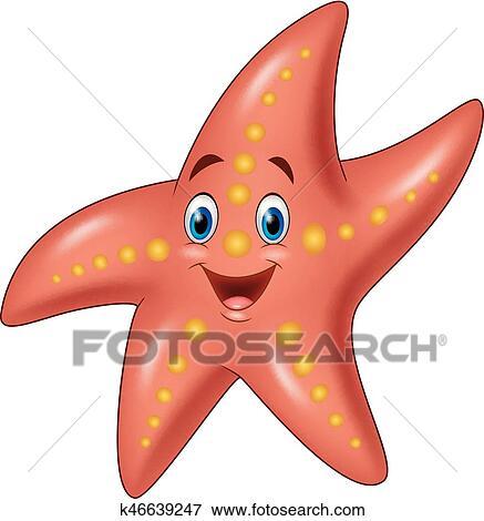 Dessin Anime Heureux Etoile Mer Clipart K46639247 Fotosearch