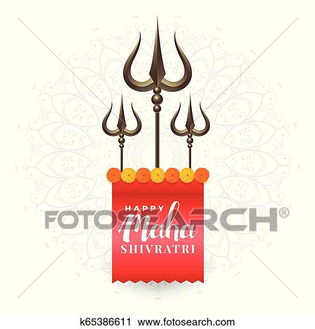 lord shiva trishul on red background Stock Vector Image & Art - Alamy