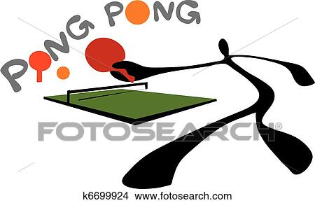 clipart of shadow man ping pong table tenni k6699924 search clip rh fotosearch com ping pong bat clipart ping pong clip art free