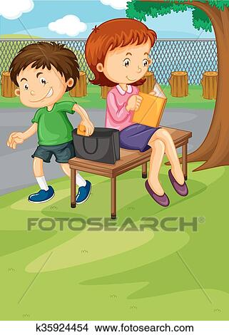 clipart of boy stealing from woman s purse k35924454 search clip rh fotosearch com no stealing clipart Fraud Clip Art