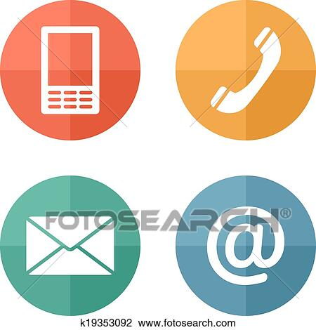 clipart of contact icons buttons set envelope mobile phone mail rh fotosearch com button clipart image button clipart image