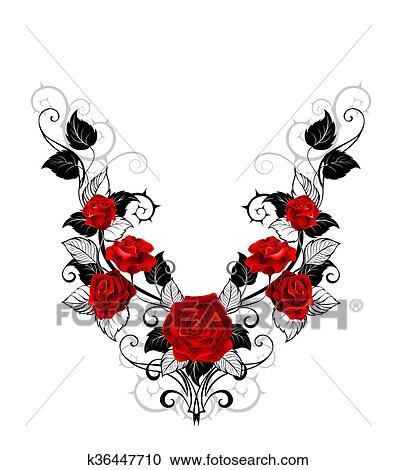 Galleria Di Illustrazioni Disegno Di Rose Rosse K36447710