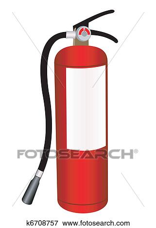 clip art of fire extinguisher k6708757 search clipart rh fotosearch com fire extinguisher clip art transparent fire extinguisher clip art to color