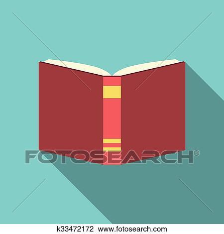 Clipart Livre Rouge Plat Style K33472172 Recherchez Des Clip