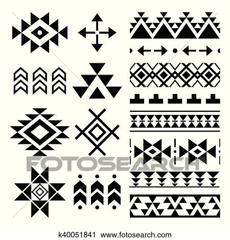 Clipart of Navajo print Aztec pattern Tribal k40 Search Custom Aztec Pattern