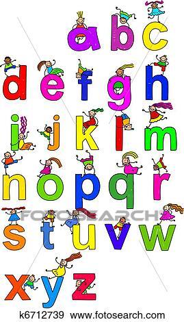 Colección de ilustraciones - alfabeto, niños k6712739 - Buscar ...