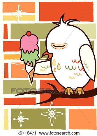 Background owl Clipart | k6716471 | Fotosearch