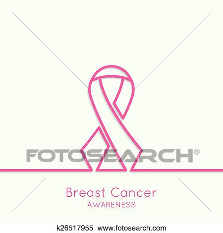 Breast Cancer Awareness Ribbon Clipart K26517955 Fotosearch