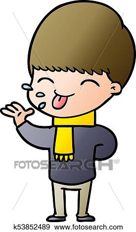 clip art of cartoon boy sticking out tongue k53852489 search rh fotosearch com cartoon person sticking out tongue cartoon man sticking out tongue
