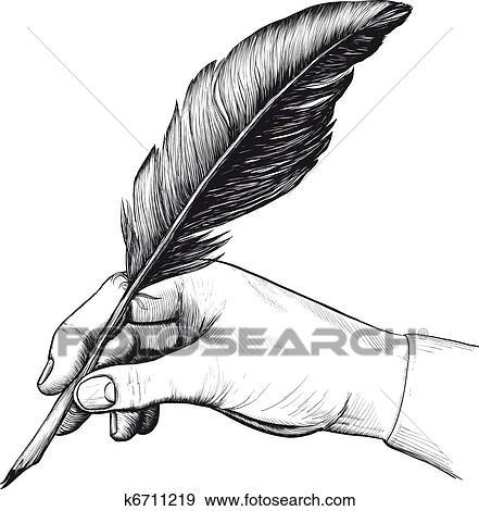 banque d 39 illustrations dessin de main a stylo plume k6711219 recherche de cliparts. Black Bedroom Furniture Sets. Home Design Ideas