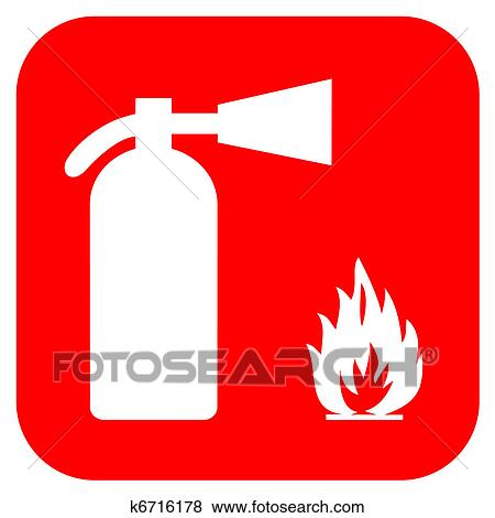 Stock Illustration Of Fire Extinguisher K6716178 Search Eps Clip