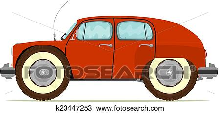 clipart of funny old car k23447253 search clip art illustration rh fotosearch com old car clip art png old car clipart chevelle