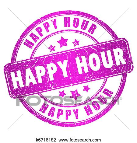 clip art of happy hour k6716182 search clipart illustration rh fotosearch com happy hour drinks clipart happy hour clip art images