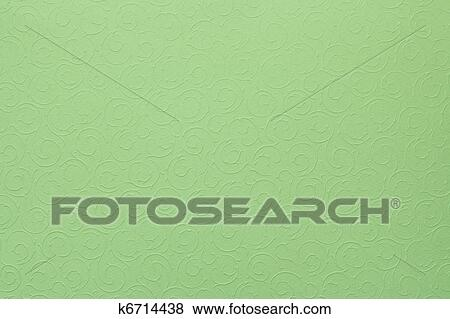 Light Pastel Green Background With Round Organic Ornaments