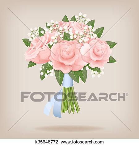 Clipart Mazzo Nozze Di Rosa Roses K35646772 Cerca Clipart