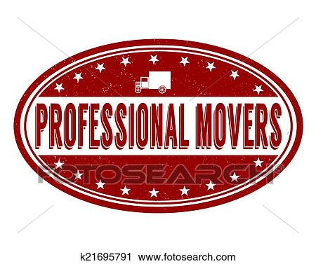 Clipart Of Professional Movers Stamp K21695791