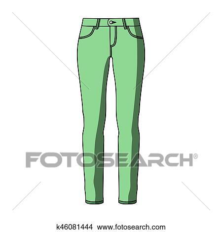 Verde Flaco Pantalones Para Women Mujeres Ropa Para Un Walk Mujeres Ropa Solo Icono En Caricatura Estilo Bitmap Simbolo Accion Illustration Coleccion De Ilustraciones K46081444 Fotosearch