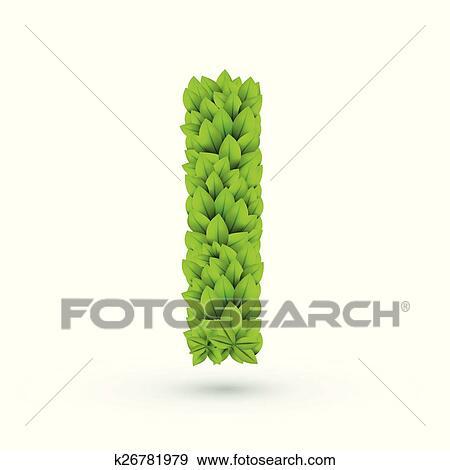 Clip Art - 3d, hojas verdes, alfabeto, yo k26781979 - Buscar Clip ...