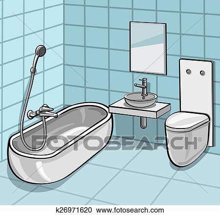 Bathroom Clipart | k26971620 | Fotosearch