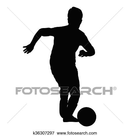 Jung Fussballspieler Silhouette Kind Spiele Fussball