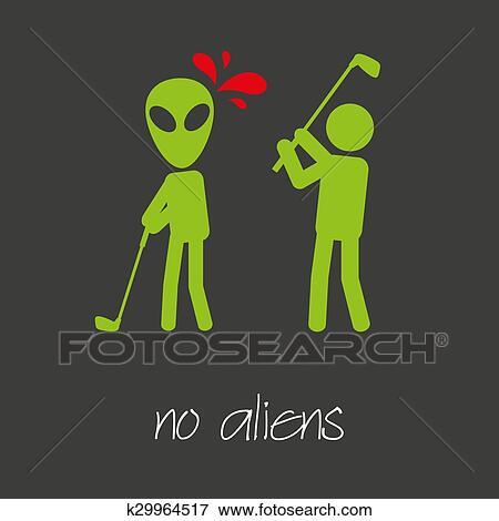 Killing Alien Golf Sport Design Banner And Background Eps10 Clip Art K29964517 Fotosearch
