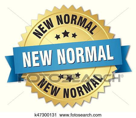 New Normal Round Isolated Gold Badge Clipart K47300131 Fotosearch