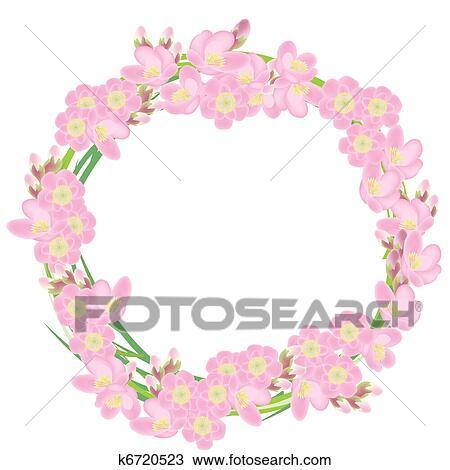 Rose Couronne Fait De Cerise Fleurs Dessin K6720523