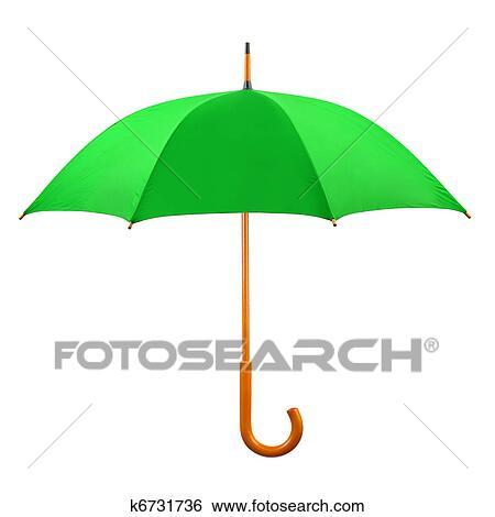 baratas para descuento mayor selección de mayor selección Abierto, paraguas verde Colección de fotografía