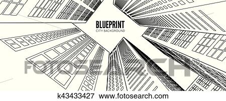 clip art of building wireframe 3d render city k43433427 search