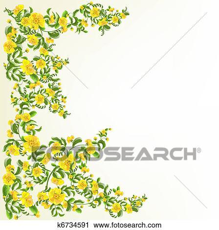 Clipart Flores Amarillas Plano De Fondo K6734591 Buscar Clip