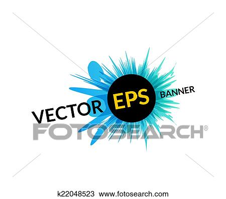 Clipart of Ink explosion banner design template, digital watercolor ...