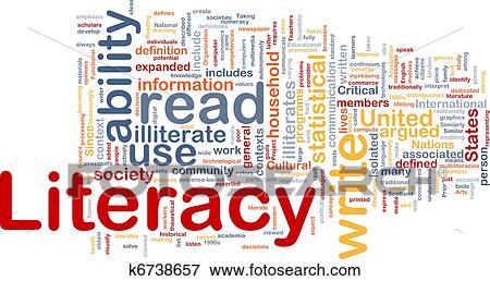Stock Illustration Of Literacy Background Concept K6738657 Search