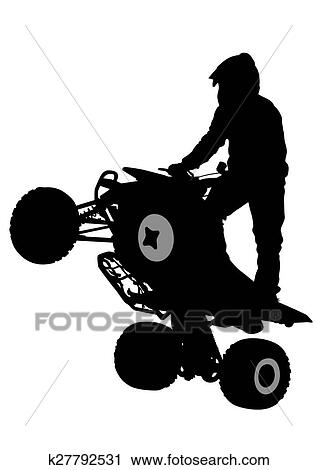 People And Atv Clipart K27792531 Fotosearch