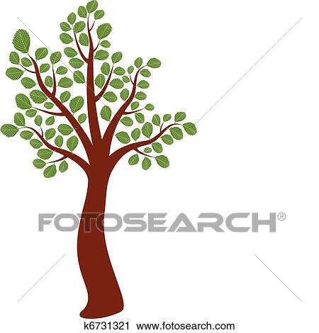 Vector Elm Tree Clipart