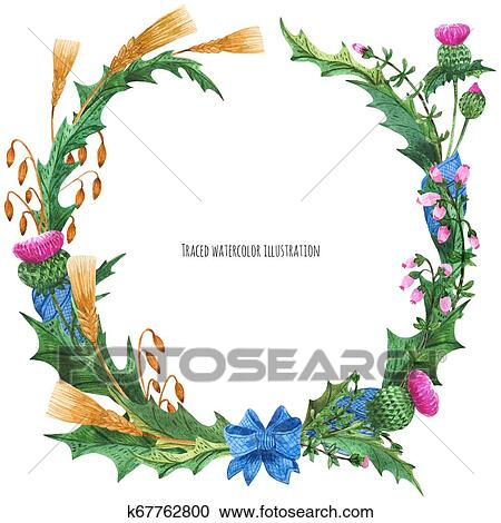 Heather Clip Art - Royalty Free - GoGraph
