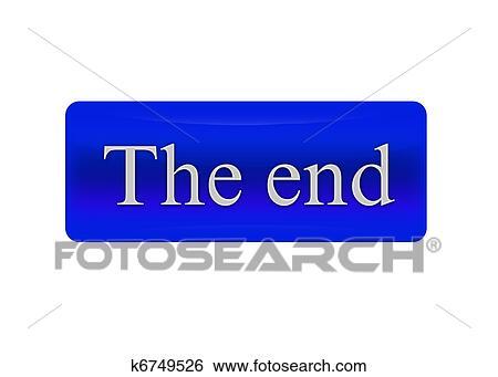 ボタン The End イラスト K6749526 Fotosearch