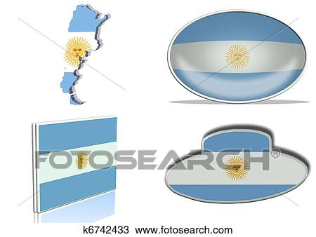 Drawing Of Argentina Flag K6742433 Search Clipart Illustration